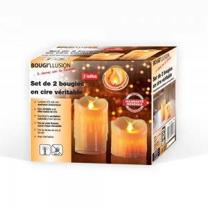 Set de 2 bougies LED en...