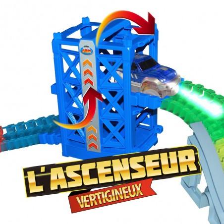 Coffret Ses Tous Accessoires Avec Lightning Voiture Speedy Luminescent Ultra De Et Fun Circuit Police FlexibleModulable 0wNnmOv8
