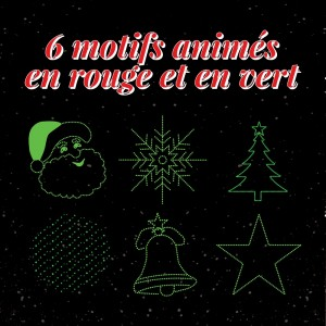 motifs animés rouge et vert de Noël