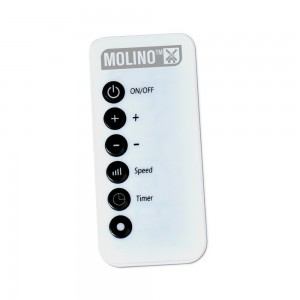 Télécommande incluse avec le chauffage MOLINO