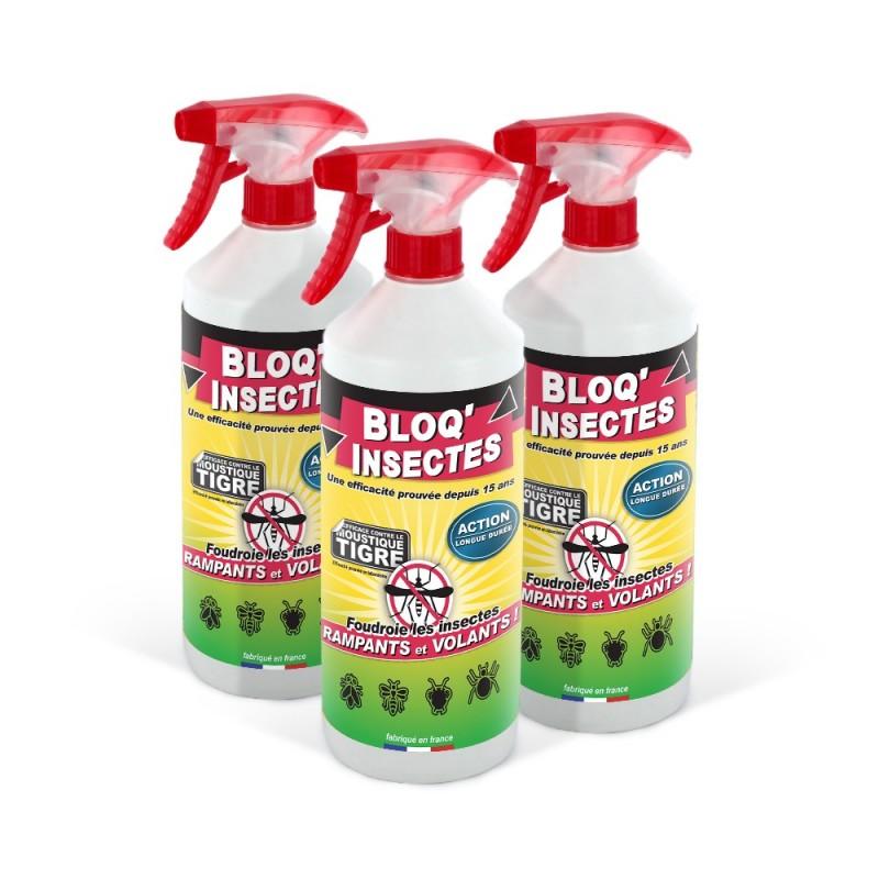 3 bidons d'anti-insectes Bloq'Insectes