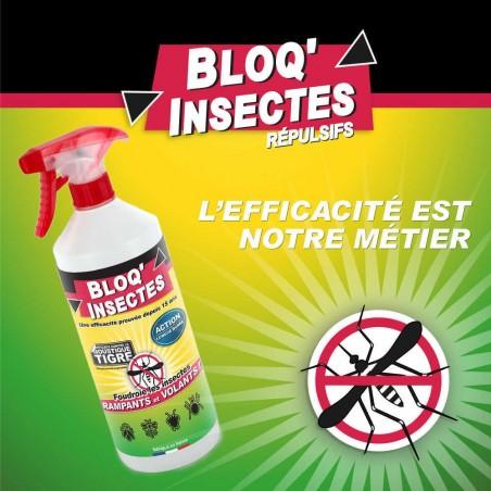 Spray efficace contre les insectes et moustiques-tigre