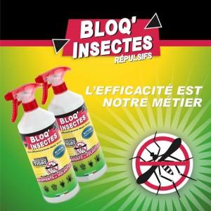Sprays BLOQ'INSECTES efficaces contre les insectes volants et rampants
