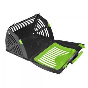 Cage de transport pliable verte