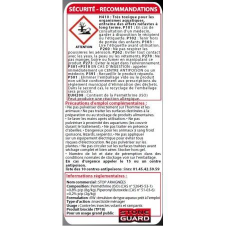 Consignes de sécurité sur le stop araignées