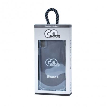 Coque-collier noir GO LUCKY pour iPhone X