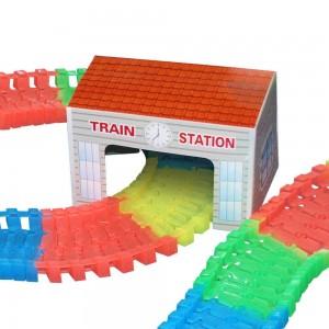 Gare LIGHTNING SPEEDY inclus dans le coffret de voiture et train