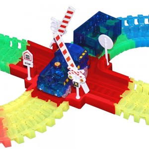 Train avec wagon pour le circuit LIGHTNING SPEEDY
