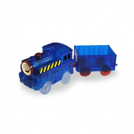 Train lumineux avec wagon LIGHTNING SPEEDY