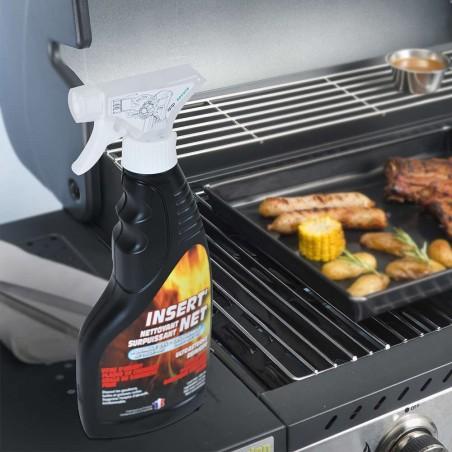 Nettoyant insert pour grilles et plaques de barbecue