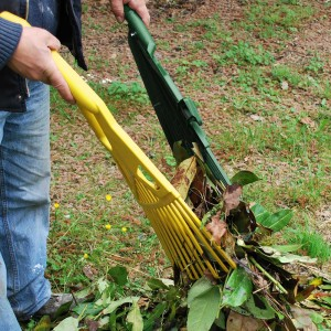 Râteau détachable pour ramasser les feuilles