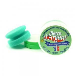 Pierre d'Argent 200 g avec éponge verte