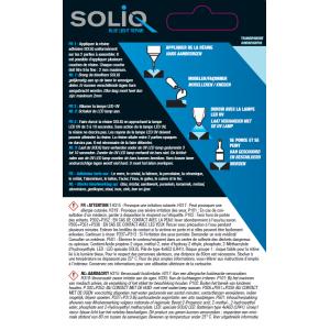 Consignes et données de sécurité de la résine métal SOLIQ