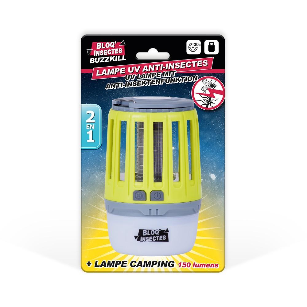 Lampe UV anti-insectes BLOQ'INSECTES