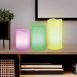 Coffret de 3 bougies LED en cire véritable