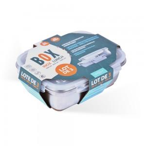 3 boîtes de conservation inox Box Inox Lunch