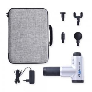 Mallette de transport et 4 accessoires de massage inclus avec le pistolet de massage Pure FX 2.0