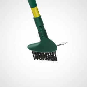 Tête double action brosse à joints et racloir pour entretien sols Gardirex