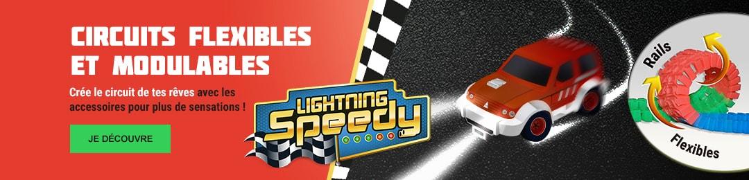 Crée le circuit de tes rêves avec les accessoires Lightning Speedy !
