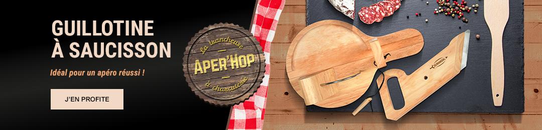 Guillotine à saucisson APER'HOP idéale pour un apéritif réussi !